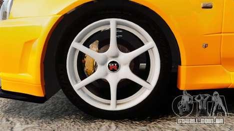Nissan Skyline ER34 GT-R para GTA 4 vista de volta