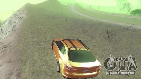 Ford Focus Sedan Hellaflush para GTA San Andreas vista traseira