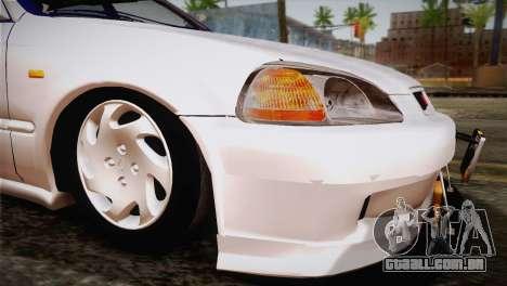 Honda Civic para GTA San Andreas vista interior