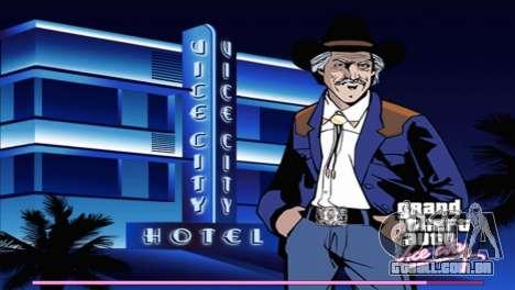 Arranque telas com a versão para PS2 para GTA Vice City terceira tela