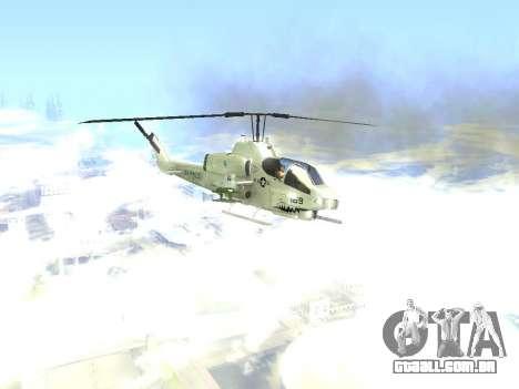 AH-1W Super Cobra para GTA San Andreas vista traseira