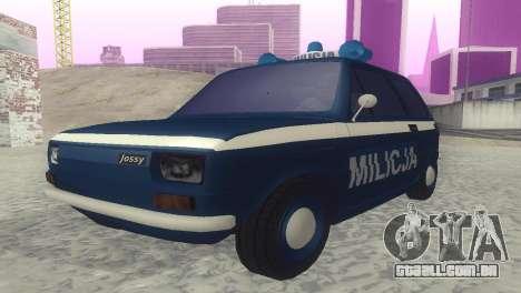 Fiat 126p milicja para GTA San Andreas