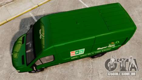 Mercedes-Benz Sprinter 2500 2011 Hungarian Post para GTA 4 vista direita