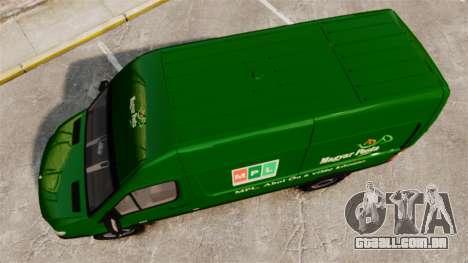 Mercedes-Benz Sprinter 2500 2011 Hungarian Post para GTA 4 vista direita