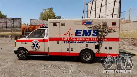 Brute Ambulance v2.1-SH para GTA 4 esquerda vista