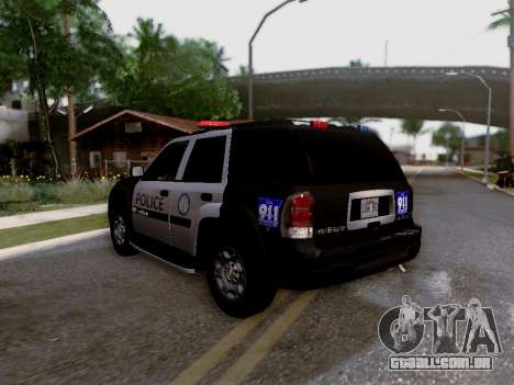Chevrolet TrailBlazer Police para GTA San Andreas vista interior