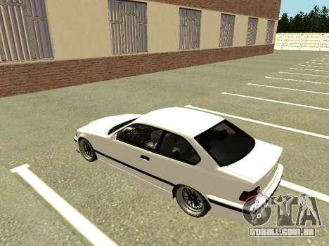 BMW M3 E36 Coupe para GTA San Andreas vista traseira