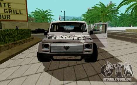 Benefactor DUBSTA para GTA San Andreas traseira esquerda vista
