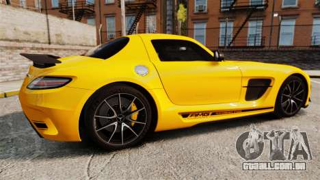 Mercedes-Benz SLS 2014 AMG Performance Studio para GTA 4 esquerda vista