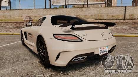 Mercedes-Benz SLS 2014 AMG Driving Academy v1.0 para GTA 4 traseira esquerda vista