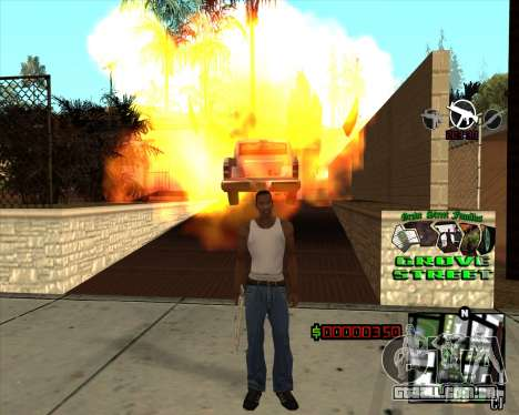 C-HUD West Side Grove Street para GTA San Andreas terceira tela
