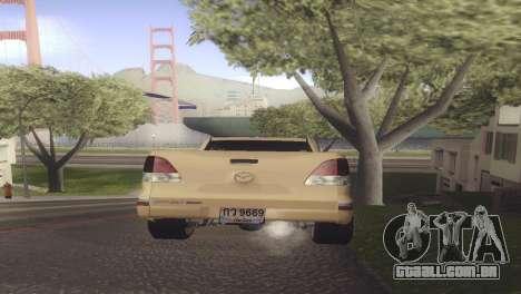Mazda BT-50 Pro para GTA San Andreas traseira esquerda vista