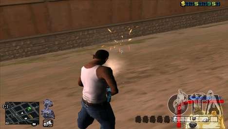 C-HUD Cão WOW para GTA San Andreas por diante tela