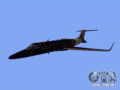 Bombardier Learjet 45 para GTA San Andreas esquerda vista