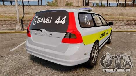 Volvo V70 SAMU 44 [ELS] para GTA 4 traseira esquerda vista