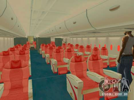 Airbus  A380-800 Sichuan Airlines para as rodas de GTA San Andreas