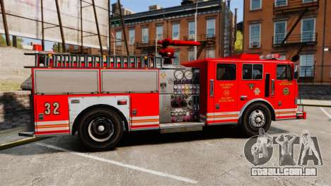 Fire Truck v1.4A LSFD [ELS] para GTA 4 esquerda vista