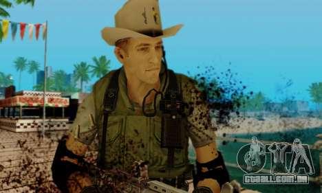 Resident Evil Apocalypse S.T.A.R.S. Sniper Skin para GTA San Andreas quinto tela