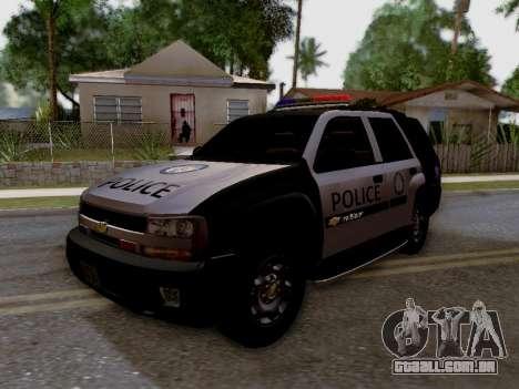 Chevrolet TrailBlazer Police para GTA San Andreas vista traseira