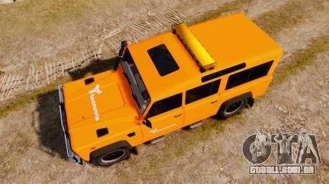 Land Rover Defender tecnovia [ELS] para GTA 4 vista direita