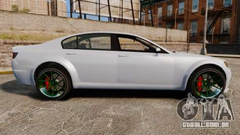 GTA V Cheval Fugitive new wheels para GTA 4 esquerda vista