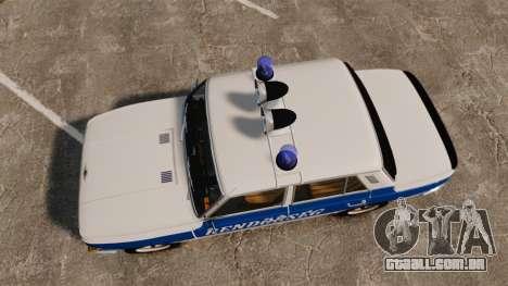 Wartburg 353w Deluxe Hungarian Police para GTA 4 vista direita
