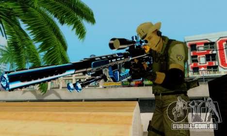Resident Evil Apocalypse S.T.A.R.S. Sniper Skin para GTA San Andreas sétima tela