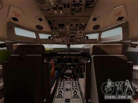Boeing 737-800 Air Algerie para GTA San Andreas vista inferior
