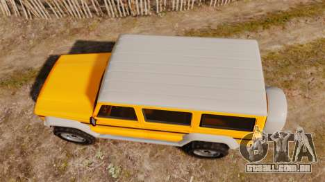 GTA V Benefactor Dubsta new wheels para GTA 4 vista direita