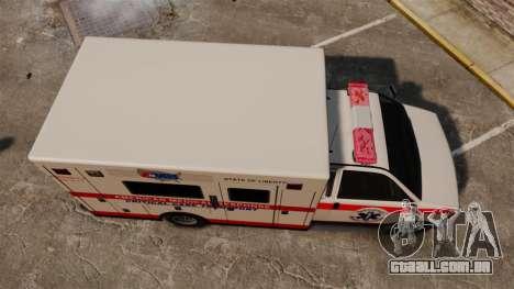 Brute Ambulance v2.1-SH para GTA 4 vista direita
