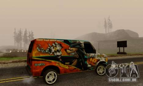 Ford E-150 GT-Shop para GTA San Andreas vista direita