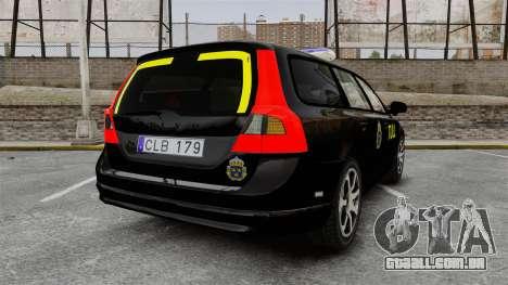 Volvo V70 Swedish TULL [ELS] para GTA 4 traseira esquerda vista