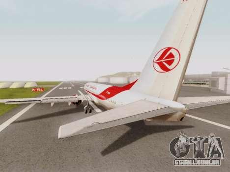 Boeing 737-800 Air Algerie para GTA San Andreas vista direita