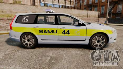 Volvo V70 SAMU 44 [ELS] para GTA 4 esquerda vista