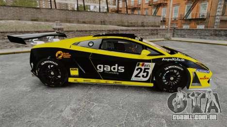 Lamborghini Gallardo LP560-4 GT3 2010 Gads para GTA 4 esquerda vista