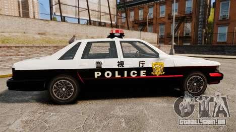 GTA SA Japanese Police Cruiser [ELS] para GTA 4 esquerda vista