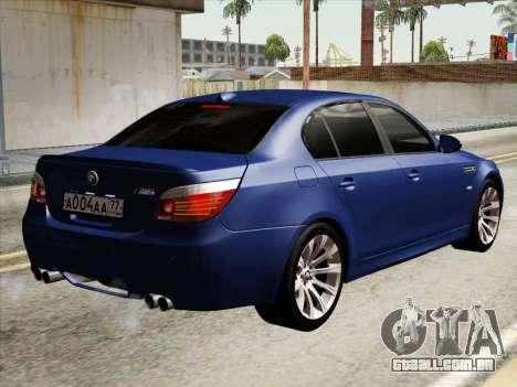 BMW M5 E60 2010 para GTA San Andreas vista direita