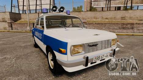 Wartburg 353w Deluxe Hungarian Police para GTA 4
