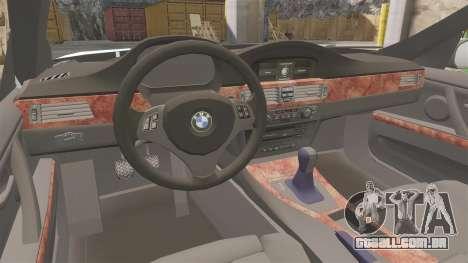 BMW 350i Japanese Police [ELS] para GTA 4 vista interior