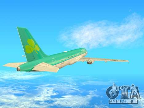 Airbus A320-200 Aer Lingus para GTA San Andreas vista interior