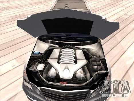 Mercedes-Benz E63 AMG 2010 para vista lateral GTA San Andreas