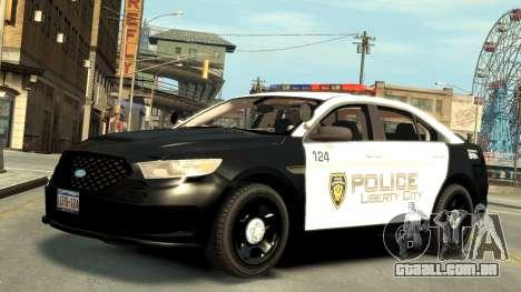 Ford Police Interceptor LCPD 2013 [ELS] para GTA 4 esquerda vista
