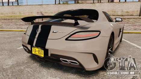 Mercedes-Benz SLS 2014 AMG NFS Stripes para GTA 4 traseira esquerda vista