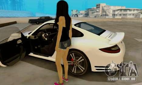 Jack Daniels Girl Skin para GTA San Andreas por diante tela