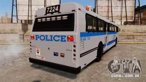 Brute Bus LCPD [ELS] para GTA 4 traseira esquerda vista