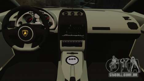 Lamborghini Gallardo LP570-4 Martini Raging para GTA 4 vista interior