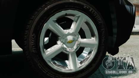 Chevrolet Suburban 2008 FBI [ELS] para GTA 4 vista direita
