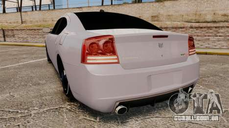 Dodge Charger SRT8 2007 para GTA 4 traseira esquerda vista