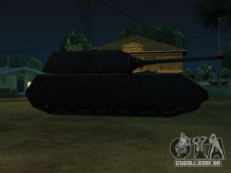 PzKpfw VII Maus para GTA San Andreas traseira esquerda vista