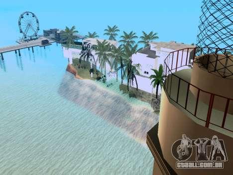 Nova ilha V2.0 para GTA San Andreas quinto tela